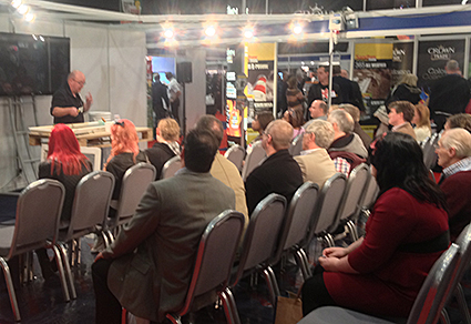 Painting and Decorating Show - Brian demonstrates the Speedheater infrared paint stripper