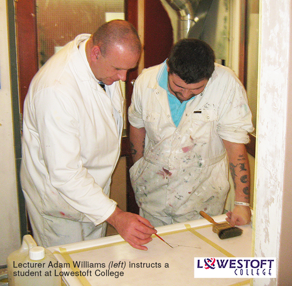 Mr Adam Williams, lecturer at Lowestoft College, is the winner of Speedheater infrared paint stripper