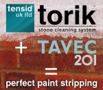 Torik plus Tavec - perfect paint stripping